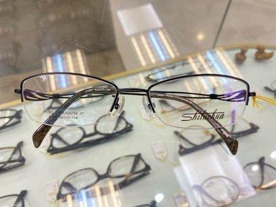 【台南中國眼鏡】實體店 S390 390 鈦 黑 半框 TITANIUM 鏡架 鏡框