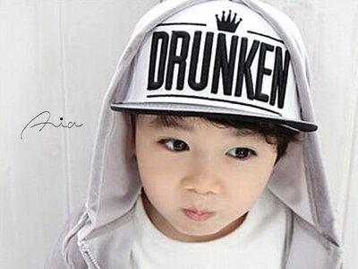 ~Aia Shoes Shop~【KK00076】韓國同步免代購最新DRUNKEN刺繡皇冠潮帽/板帽/棒球帽/鴨舌帽