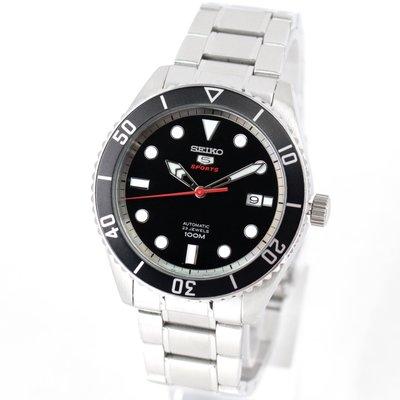 現貨 可自取 SEIKO SRPB91K1 精工錶 機械錶 44mm 盾牌5號 黑水鬼 黑面盤 鋼錶帶 男錶女錶