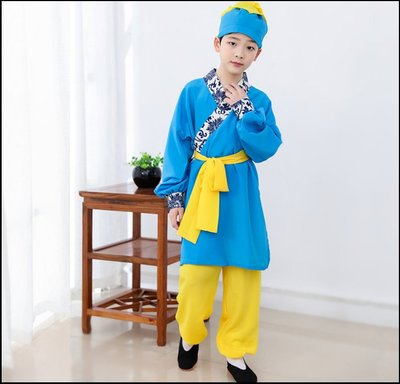 ~~Miss Goddess~~  兒童古代蹴鞠服飾唐宋傳統運動交領古裝漢服套裝國學書童演出服裝