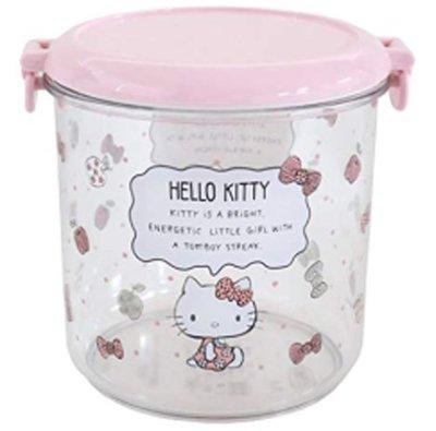 Hello Kitty KT保存容器(11.2X12.5X11.6CM)800ML日本進口4970825113109 台南市