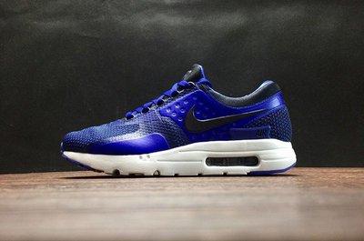 【線上販殼】Nike AIR MAX ZERO QS 氣墊 編織 慢跑鞋 藍色 男鞋