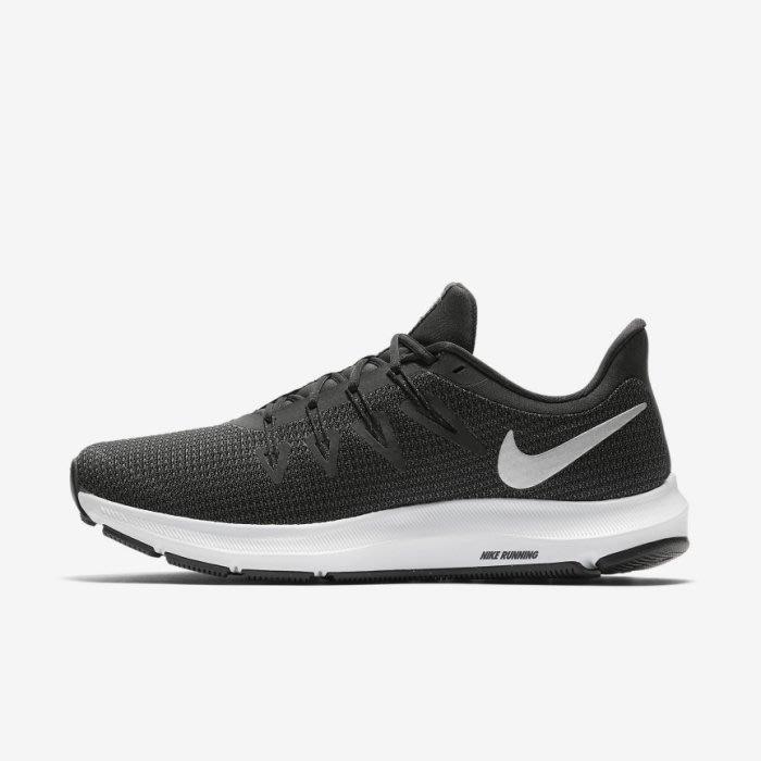 【鞋印良品】NIKE QUEST 男鞋 輕量 耐磨 避震 慢跑鞋 AA7403001 百搭 黑銀勾白尺寸:US8~12號