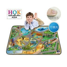 【魔法世界】《比利時 HOK》歡樂動物園可水洗柔軟遊戲墊