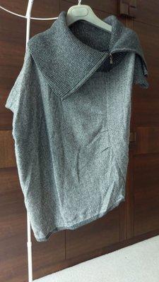 ¤ 就是愛買 ¤ D.Exterior 大翻領 抓皺 不規則Cashmere短袖羊毛衣
