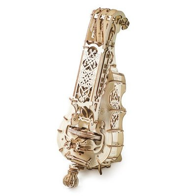 【海思】Ugears - 手搖風琴 Hurdy Gurdy 來自烏克蘭.橡皮筋動力.機械驚奇 ! 科學玩具