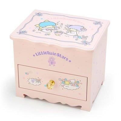 Sanrio 日本正版 Little Twin Stars 雙子星 木製 首飾盒 飾物盒 雜物盒