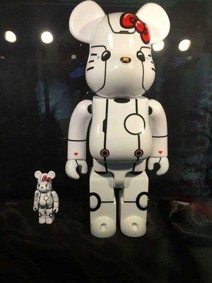 Linda精品小鋪 Be@rbrick ROBOT Kitty 新加坡限定款 白色款 400%
