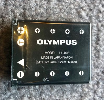 原裝【Olympus】鋰電池 original rechargeable battery LI-40B made in Japan 3.7v 660mA