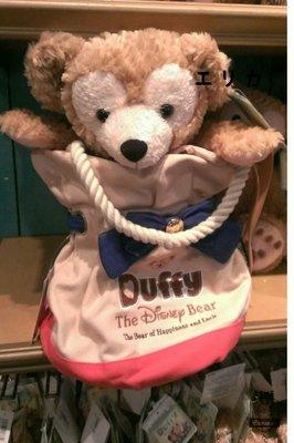(現貨)東京迪士尼海洋達菲熊帆布水桶包+達菲熊S號(成組販賣 )水桶包可當肩背包或束口提包多用途