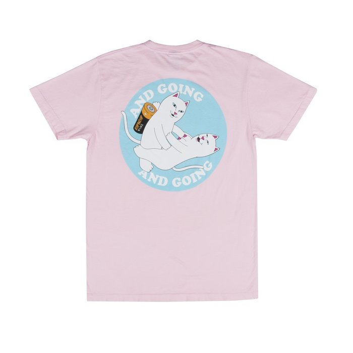 { POISON } RIPNDIP CHARGED UP TEE 打砲充電中指貓