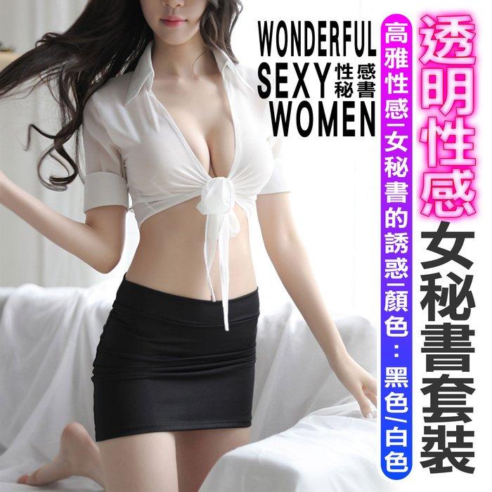 URS 透明性感女秘書套裝 台灣公司附發票 夜店 情趣套裝 性感 女秘書 服裝【JP014】
