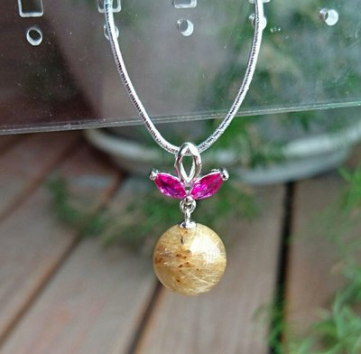 ~水晶花園~ 維納斯的金蘋果 鈦晶墜子(不含鍊子)