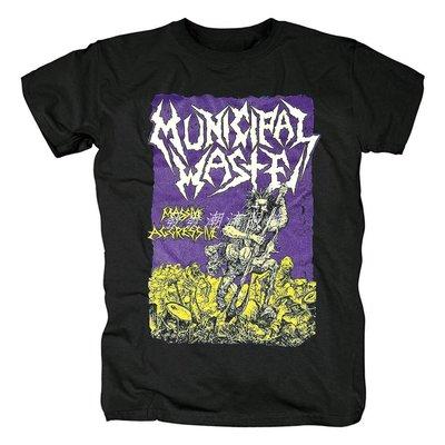 發發潮流服飾Municipal Waste 重金屬 硬搖滾硬核Massive aggressive 搖滾 T恤
