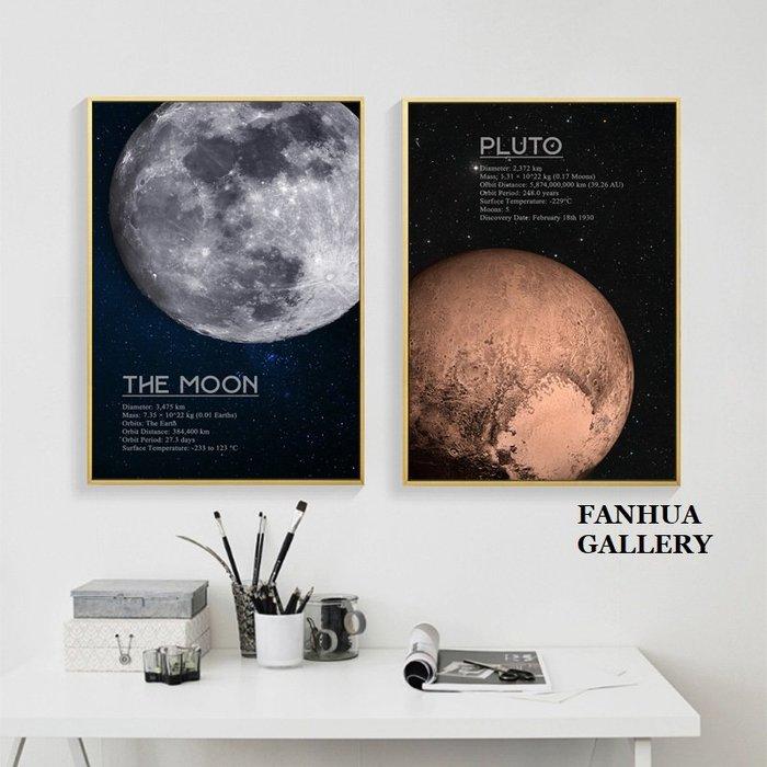C - R - A - Z - Y - T - O - W - N 月球地球火星裝飾畫客廳創意書房壁畫臥室餐廳工業風掛畫
