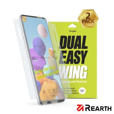 Rearth Ringke 三星 Galaxy A21s 滿版抗衝擊螢幕保護貼(兩片裝)