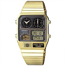復刻 CITIZEN JG2008-81E ANA-DIGI TEMP GOLD 金色 溫度計