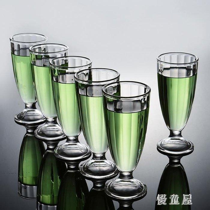 家用無鉛玻璃啤酒杯六只套裝創意酒吧飲料杯小扎啤杯沙拉果汁杯 QG5827