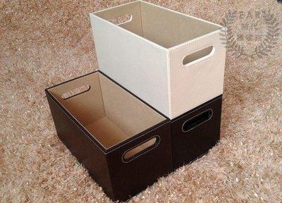 哆啦本鋪 皮革挖孔CD收納盒CD盒CD架CD籃皮質整理用具雜物籃收納籃 D655