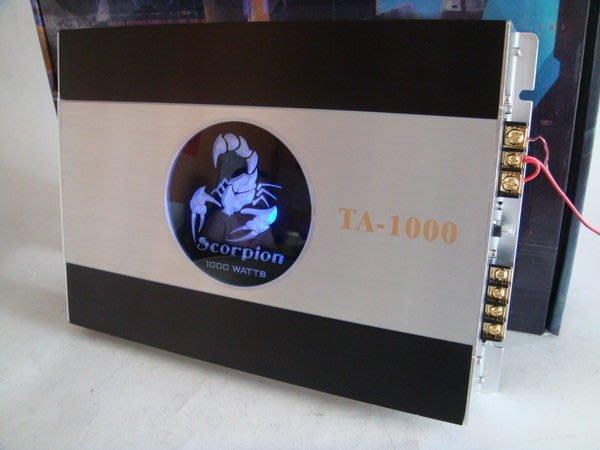 震撼立專業音響~Scorpion 毒蠍 1000W 二聲道擴大器~ TA-1000