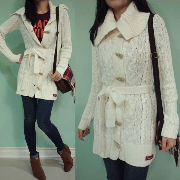 MISHIANA 歐洲休閒品牌 BONDELID 女生款 牛角扣針織毛衣外套( 新款上市.特價出售 )