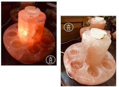 【玄呈】高質感-來自喜馬拉雅山玫瑰鹽燈-珍愛奇鹽-夜燈-氣氛燈-多功能七星精油燈L3=1980產地直銷 提升能量 開運招