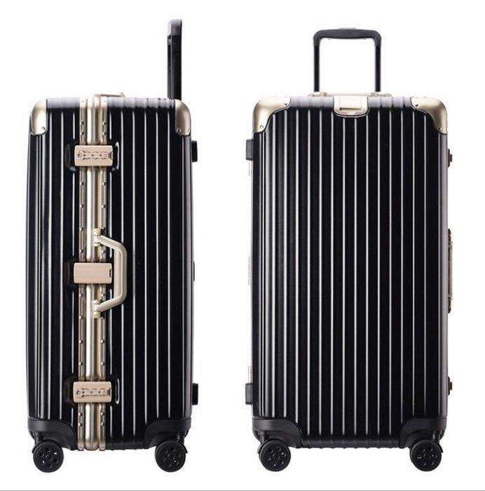 20吋運動版行李箱 大容量 鋁框 拉桿箱 萬向輪 磨砂面加厚旅行箱 (不送小贈品, 價格直接優惠)