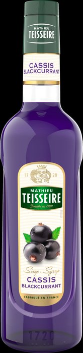Teisseire 糖漿果露-黑醋栗風味 Blackcurrant  法國頂級天然糖漿 1000ml-【良鎂咖啡精品館】