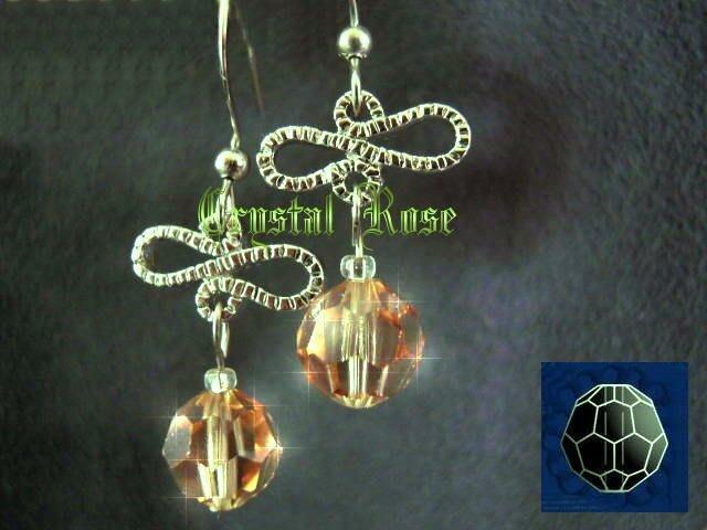 ※水晶玫瑰※ SWAROVSKI 8mm水晶珠 耳勾式針式耳環(DD350)~出清~三對免郵