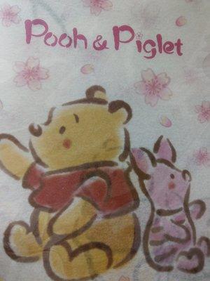***日本帶回***東京迪士尼 POOH小熊維尼Piglet小豬 櫻花A4L夾資料夾♪☆♪日本製