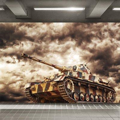 客製化壁貼 店面保障 編號F-655 裝甲戰車 壁紙 牆貼 牆紙 壁畫 背景牆 星瑞 shing ruei