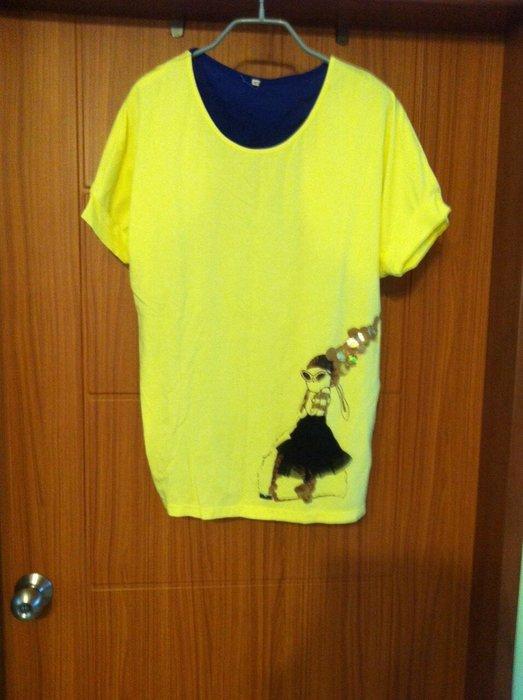 專櫃 棉質短袖上衣  假2件式造型 二件式上衣絲棉 娃娃 立體感