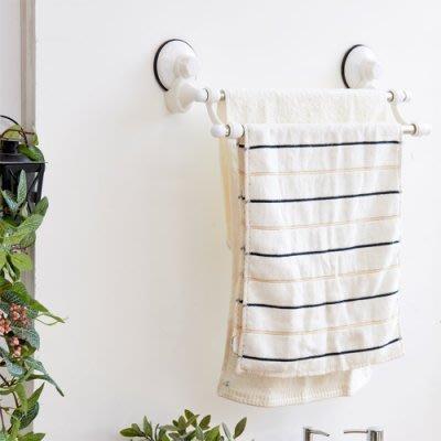 TACO無痕吸盤系列-不鏽鋼雙桿毛巾架 免鑽洞免釘牆置物收納架 餐具架/瀝水架 毛巾架 浴室置物架