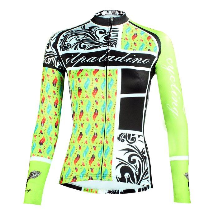 UP!!新升級【Paladin】女款長袖車褲衣 :: 綠騎豪傑