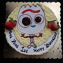 Co Cake -  平面畫公仔 蛋糕 反斗奇兵4 小叉 蛋糕 生日蛋糕 歡迎來圖訂做