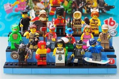 絕版品【LEGO 樂高】玩具 積木/ Minifigures人偶包系列: 5代 8805 全套共16隻 全新未組僅拆袋