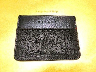 國際專櫃精品Sisley全新皮革雕花名片夾