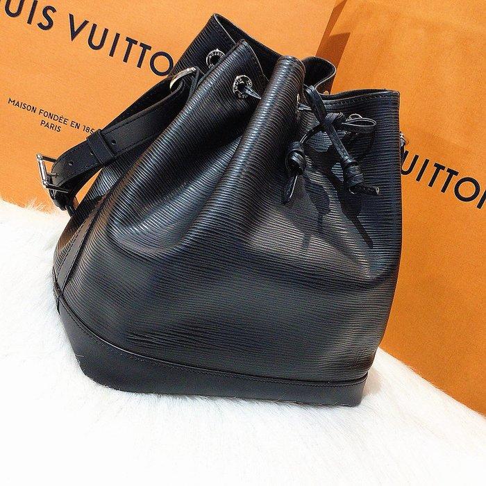 二手旗艦 LOUIS VUITTON LV M40752 黑色 EPI 水波紋 水桶包 肩背包 (中友店) 14801