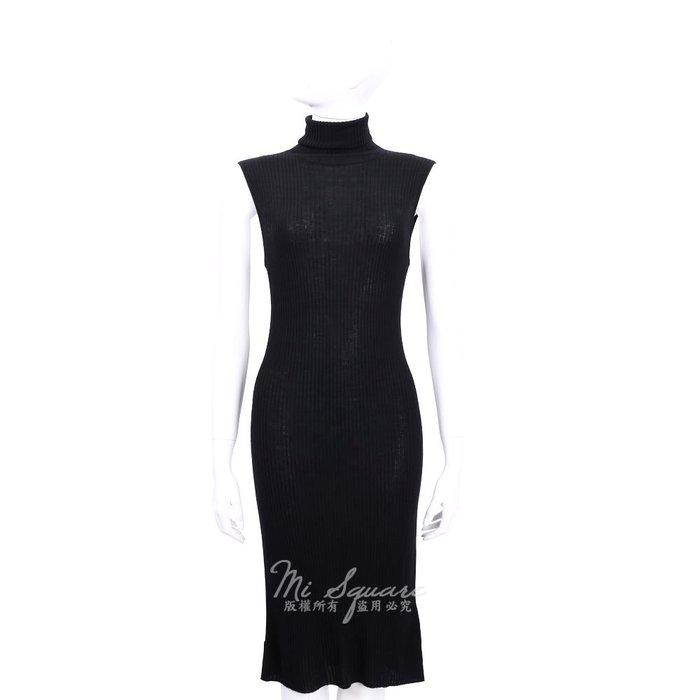 米蘭廣場 ALLUDE 100% WOOL 黑色高領羊毛無袖洋裝 1540650-01