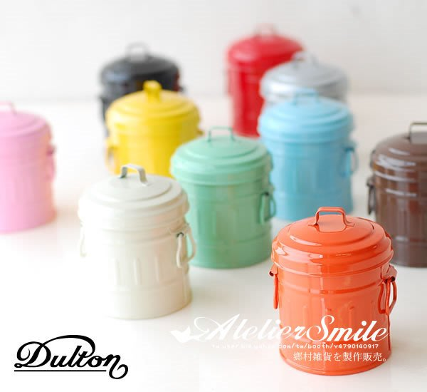 [ Atelier Smile ]  鄉村雜貨 日本直送 DULTON 桌面收納儲物桶 金屬桶 筆筒 收納桶 # M