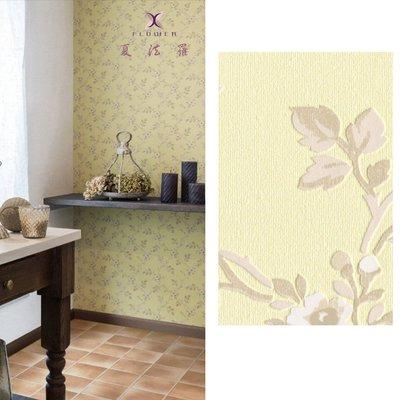 【夏法羅 窗藝】日本進口 英式鄉村風 復古植物圖案 壁紙 BB_057090