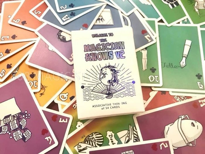 [MAGIC 999]魔術道具 Magic Knows V2 魔術師的牌 收藏牌 (黑白/彩色)