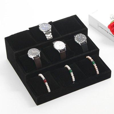hello小店-冰花絨手表盤手鐲架黑絨小枕頭盤手鏈盒手鏈展示盤手表手鐲盤#飾品架#展示道具#