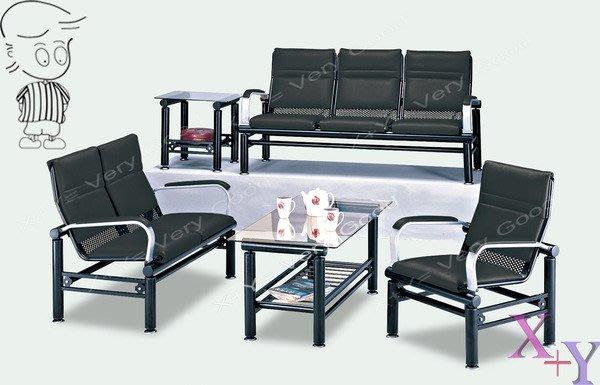 【X+Y時尚精品傢俱】沙發系列- 吉利 黑色沙發組(1+2+3+大小茶几).鋼管沙發.台南摩登家具