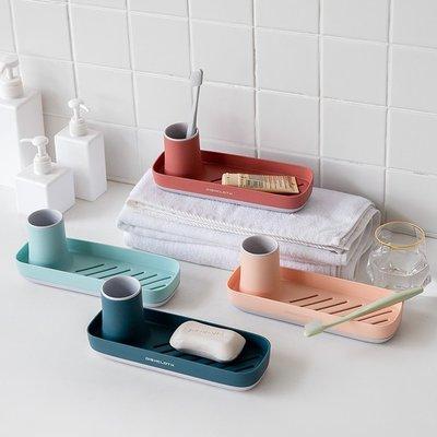 廚房浴室專用 北歐風撞色質感瀝水架收納架 水龍頭置物架 肥皂架牙刷膏儲物架【RS978】