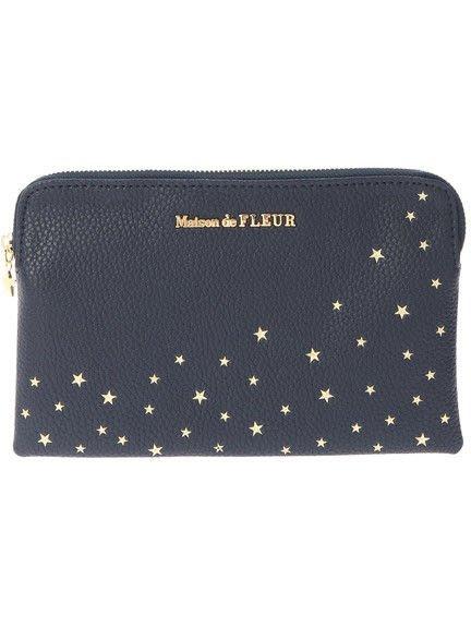 代購現貨  日本Maison de FLEUR 星星手拿包 扁包