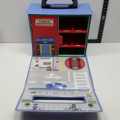 【日本帶回】 TOMY 多美 TOMICA 加油站 場景 收納箱 手提箱 方便 收納盒 可放至少6台車 現況品