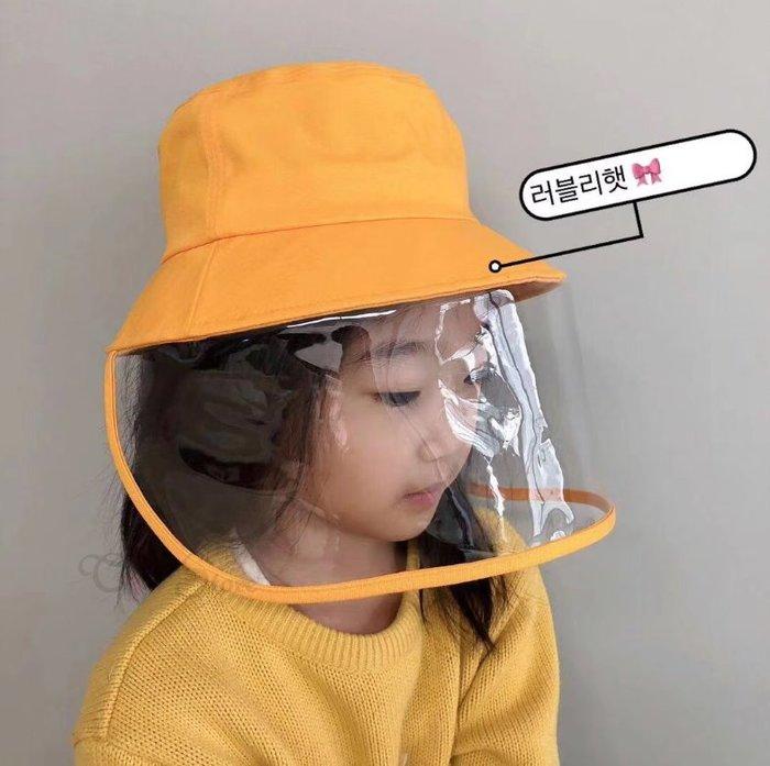 【T3】漁夫帽 防飛沫 可拆式 防護遮罩 防唾液飛沫 隔離帽子 擋風帽 工作帽 防疫帽 護目【HW17】