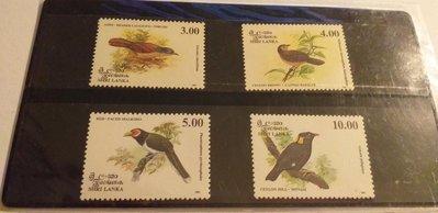Sri Lanka 1993鳥4全,特價 80元。