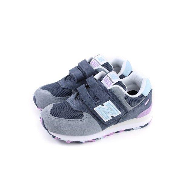 NEW BALANCE 574 中童 麂皮 藍淺灰 紫 黏帶 慢跑鞋 YV574UJA ☆SP☆